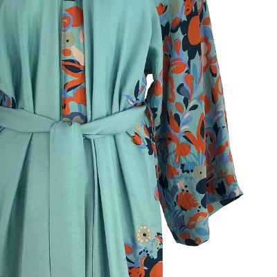 flower pointed robe blue1